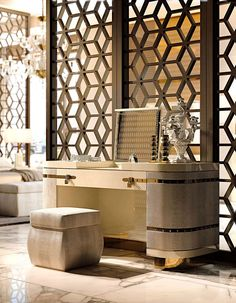Diamond Bedroom www.turri.it Luxury design dressing table