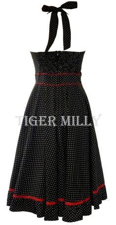 Hell Bunny Vanity 50's Dress Black UK Size 8-20