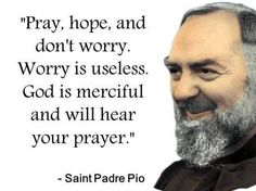Little Plant of St. Francis: Favorite Quote of St. Padre Pio