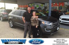 https://flic.kr/p/MWMfp1 | Happy Anniversary to Harriett on your #Ford #Edge from Justin Bowers at Waxahachie Ford! | deliverymaxx.com/DealerReviews.aspx?DealerCode=E749