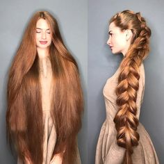 model has become popular thanks to her natural red hair. The girl was diagnosed with androgenetic alopecia when she was and her hair was falling out in clumps. Long Red Hair, Super Long Hair, Long Long Hair, Brown Hair, Loose Hair, Really Long Hair, Brown Blonde, Silky Hair, Loose Curls