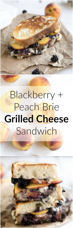 Blackberry and Peach Brie Grilled Cheese Sandwich (grilled cheese recipes) Grilled Cheese Recipes, Brie Grilled Cheeses, Grilled Peaches, Wrap Sandwiches, Steak Sandwiches, Love Food, Food To Make, The Best, Food And Drink