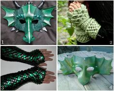 Top left is a good example of traditional  dragon mask