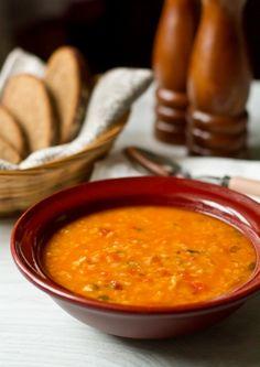 Суп из красной чечевицы с тыквой