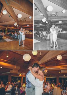 dana + jared // marina village, sunset room // san diego wedding photographers // first dance // lanterns at reception