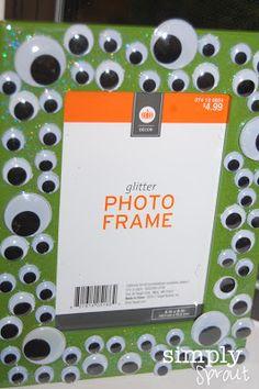 monster frame, perfect Halloween craft for preschoolers