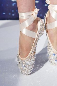 Swarovski Austrian crystal diamond ballet ribbon pink ballerina pointe shoes.  Some dreams will never die!!!