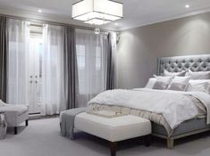 Light grey bedroom