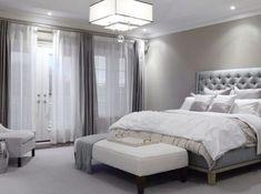 black bedroom ideas inspiration for master bedroom designs 5 light chandelier grey walls and furniture - How To Decor A Bedroom