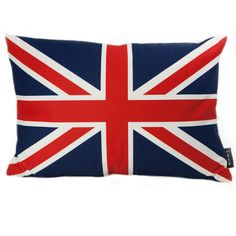 lava British Flag Synthetic Lumbar Pillow ($44) ❤ liked on Polyvore featuring home, home decor, throw pillows, pillows, accessories, british, rooms, country home decor, union jack home decor and lumbar throw pillow