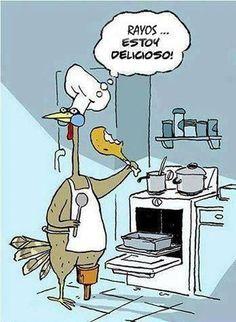 #Humor #Navidad Cocinando el pavo para navidad