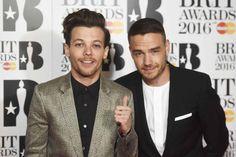 Pin for Later: Les Stars de la Musique Se Rendent à Londres Pour les Brit Awards Louis Tomlinson et Liam Payne