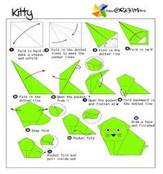 Animals Origami: Kitty