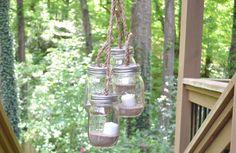 Outdoor Mason Jar Chandelier