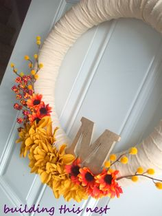 Fall Wreath (Pool Noodle Style)