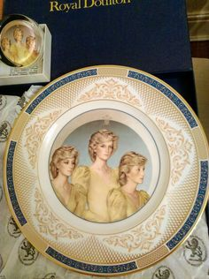 Princess diana plate/Matching paperweight..Plate is a Royal Doulton.  | eBay