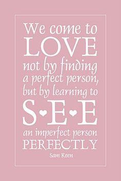 """PERFECT"" Love."