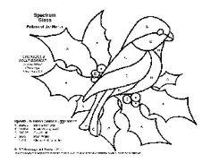 Gratis Stained Glass Pattern 2114-Chickadee & Tak van de Hulst