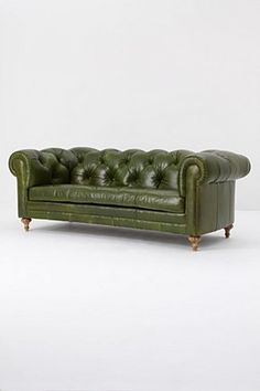 Atelier Chesterfield Sofa, Bottle Green