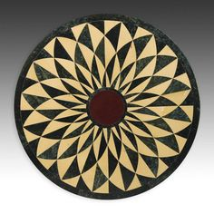 "hardstone Pietra Dura table top, Rajasthan, India  modern. hardstone mosaic. 30""d. (76 cm)  via Material Culture"