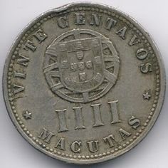 Angola 20 Centavos ( 4 Macutas ) 1927