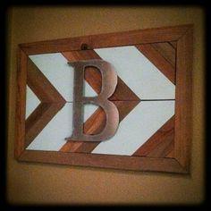 The Baeza Blog: Reclaimed Wood Arrow Monogram
