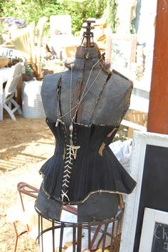 corsetted