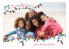 Bonnie Marcus Digital Design Bright Christmas Lights Photo Card