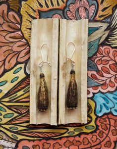 Boucles d'Oreilles/Capsules de coquelicot/Bijou naturel/Art sorcier/éco-féminisme/Argent 925/Amulette/Talisman/GriGri/Bijou énergétique