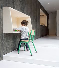 another desk idea. Plywood Writing Desk for Kids By Baksvan Wengerden
