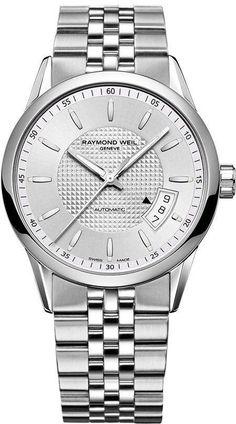 Raymond Weil Watch Freelancer Mens #bezel-fixed #bracelet-strap-steel…