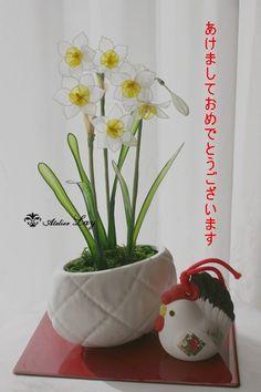 2017初レッスン 水仙(近鉄文化サロン阿倍野教室) の画像 愛犬とお花に癒されて・・・