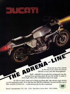 retro ducati motorcycle poster the adrena line