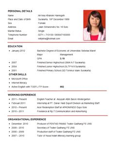 Resume Sample First Job | Sample Resumes  Example Of An Resume