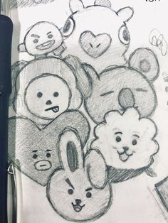 Discover recipes, home ideas, style inspiration and other ideas to try. Kpop Drawings, Pencil Art Drawings, Art Drawings Sketches, Simple Art Drawings, Hipster Drawings, Tumblr Drawings, Couple Drawings, Drawing Bts, Sketch Drawing