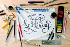 Basic Script Lettering 101 ||  Tosha Seeholzer on atly.com This class is for anyone and everyone who has ever wanted to learn the basics of lettering. More specifically script lettering! Learn a little bit about typography the best tools to use and a few tips and tricks I've learned along the way.
