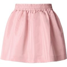 Redvalentino Special Edition Faille Mini Skirt (255 CAD) ❤ liked on Polyvore featuring skirts, mini skirts, pink, elastic waist mini skirt, mini skirt, pink mini skirt, red valentino and short pink skirt