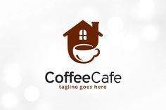 Coffee Cafe Logo Template by gunaonedesign on @creativemarket