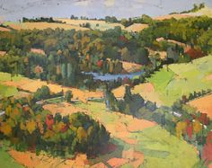 early_autumn Landscape Art, Landscape Paintings, Autumn Cosy, Early Fall, Beautiful Paintings, British Artists, Water, Art Ideas, Colorful