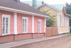 Old houses of Loviisa in Finland- Pink -