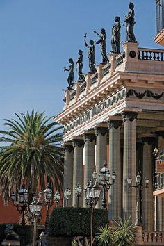 Teatro Juárez en la Ciudad d Guanajuato