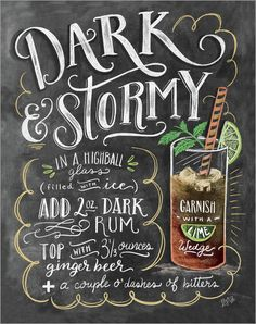 Poster Dark & Stormy Cocktail