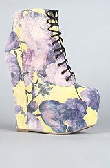 Jeffrey Campbell:The Damsel Shoe in Yellow and Purple Floral