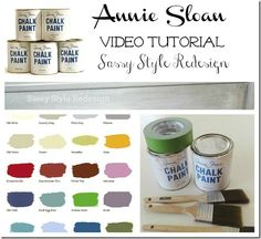 Video tutorial for how to use Annie Sloan chalk paint