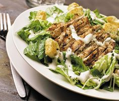 Grilled Chicken Caesar Salad - Extreme Pita - Zmenu, The Most Comprehensive Menu With Photos Fast Healthy Meals, Healthy Salads, Healthy Recipes, Eating Healthy, Salada Ceasar, Cesar Salat, Grilled Chicken Caesar Salad, Salad Chicken, Blackened Chicken