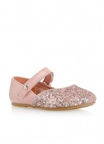 Glitter Shoes Pale Pink