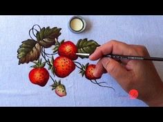 Morangos em Tecido (Aula30) - YouTube
