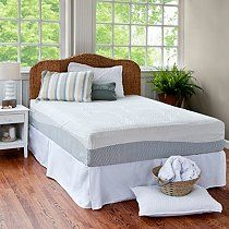 "Sam's Club Mobile - 12"" Night Therapy Pressure Relief Memory Foam Mattress & Bed Frame Set - Queen"