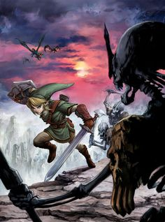View an image titled 'Link Fighting Stalfos Art' in our Legend of Zelda: Twilight Princess art gallery featuring official character designs, concept art, and promo pictures. Zelda Twilight Princess, Troy, Link Zelda, Video Game Art, Video Games, Legend Of Zelda, Videos, Concept Art, Geek Stuff