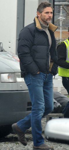 Wrapping up warm: On Thursday Eric Bana was pictured in Ireland on the set of The Secret Scripture